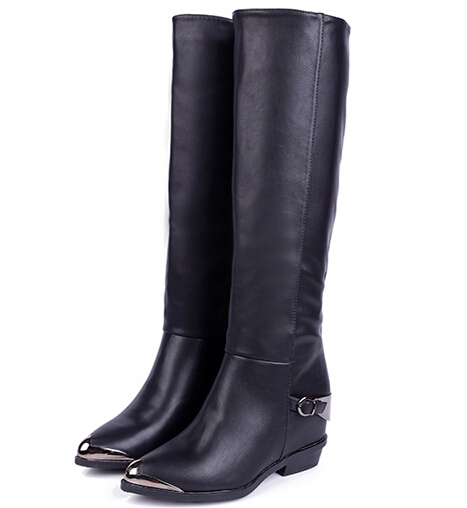 free shipping pu leather boots square heels s boots