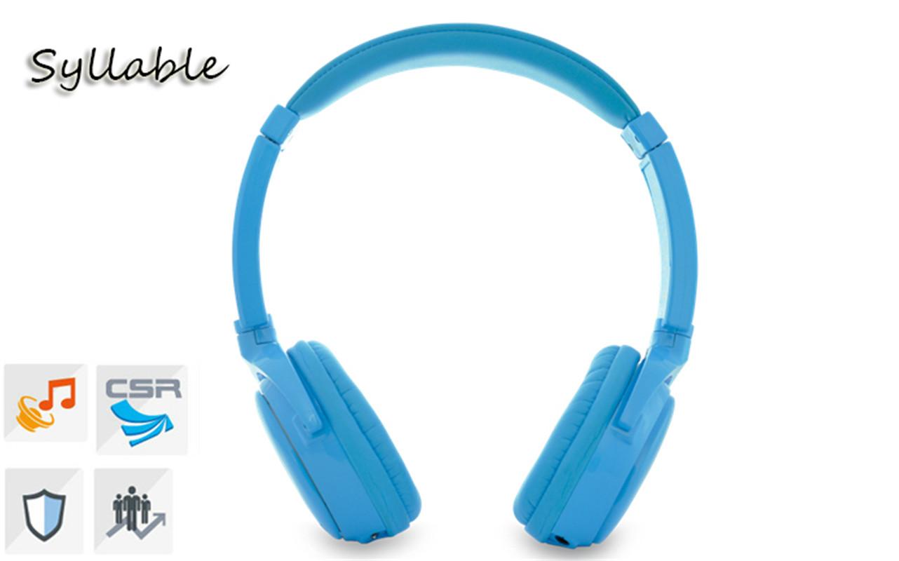 Syllable G01-003 Blue White Wireless Headphone Bluetooth 3.0 HIFI Portable 10M Distance Headphone 3.5mm Headset For Phone/PC(China (Mainland))