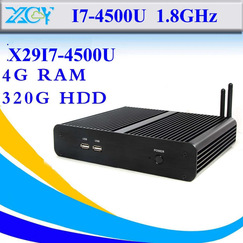 hot selling thin client linux wifi desktop computer case intel i7 4500u 4g ram 320g hdd embedded computer mini pc(China (Mainland))
