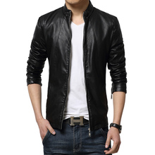 2015 New Autumn Fashion Leather Jacket Men Outdoor Mens Leather Jackets And Coats Jaqueta De Couro Masculina Plus Size M-5XL(China (Mainland))