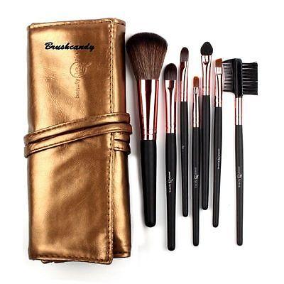 7pcs Makeup Brushes Set Professional Cosmetic Make Up Brush Set Superior Soft Copper Face Foundation Powder Lip Eyeliner Brush(China (Mainland))