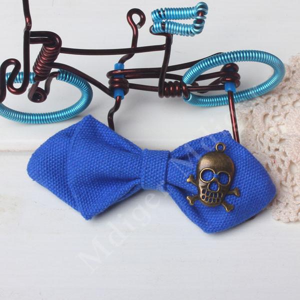 20 Colors Casual Skull Decor Kids Bow Tie Cotton Solid Children's Bow Ties Handsome Children Cravat Gravata Bowtie(China (Mainland))