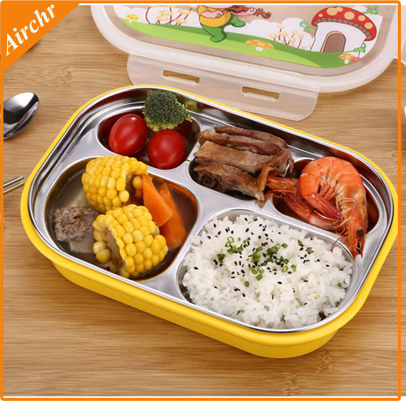 high quality bento lunch box 304 stainless steel lunchbox kids dinnerware set. Black Bedroom Furniture Sets. Home Design Ideas