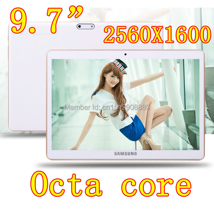 9.7 inch 8 core Octa Cores 2560X1600 DDR3 4GB ram 32GB 8.0MP Camera 3G sim card Wcdma+GSM Tablet PC Tablets PCS Android4.4 7 8 9(China (Mainland))