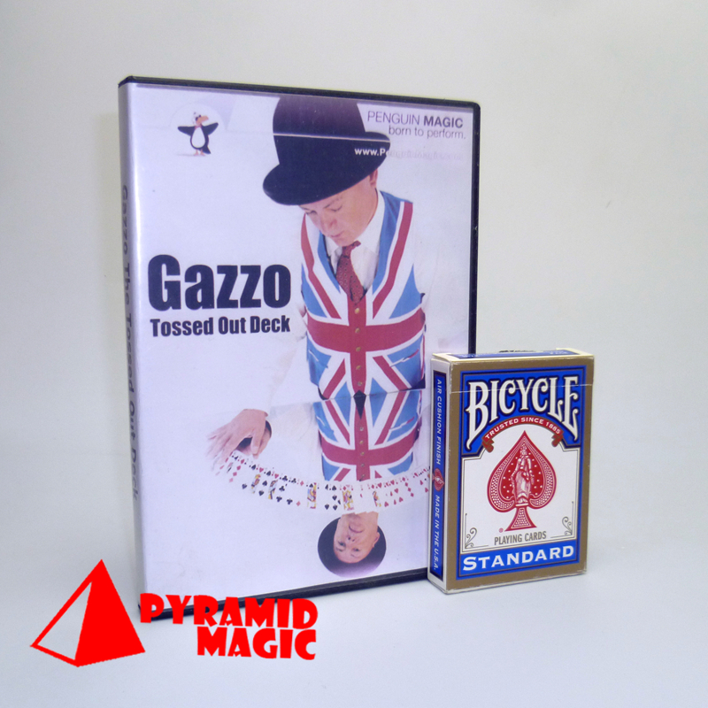 Gazzo Tossed Out Deck with bicycle Deck by Gazzo Stage Close-Up street TV SHOW Magic Tricks products toys(China (Mainland))