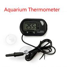 LCD Digital Fish Tank Aquarium Temperature Thermometer Water Terrarium with Suction Cup Black/Yellow(China (Mainland))