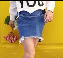 2015 Wholesale (5pcs/lot) 2015 summer spring demin Irregular skirt for child girl AK001(China (Mainland))