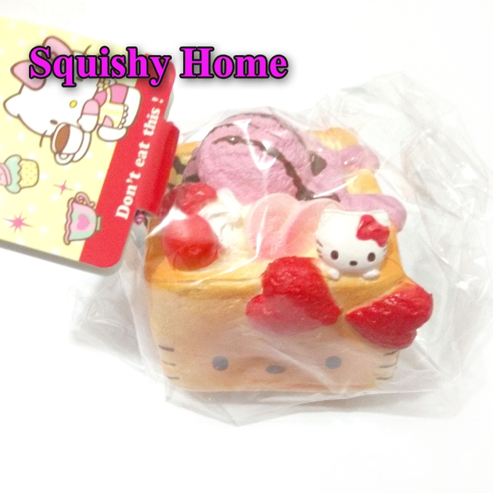 Wholesale 10 PCS Kitty cat Taro Block Cake Simulation Kawaii Mobile phone strap/dust plug New Arrival Squishy Home free shipping(China (Mainland))