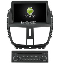 S160 Android 4.4.4 CAR player FOR PEUGEOT 207(2009-2011) (2013) , 9inch panel car audio stereo Multimedia GPS Quad-Core(China (Mainland))