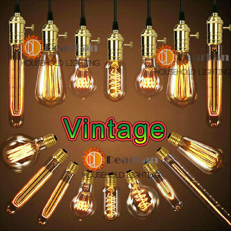 Wholesale Price,Vintage Edison Bulbs,E26/E27 Incandiscent Light Bulbs For Decoration Of Living Room,Bedroom,Study,ST64/A19/G80(China (Mainland))