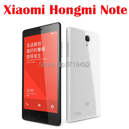 Original XIAOMI Hongmi Note Smartphone Mtk 6592 Octa Core RAM 2GB ROM 8GB 5.5 Inch Screen 3G WCDMA Cell Phone(China (Mainland))