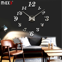 Big size DIY sticker wall clock,large size footprint wall clock,brief,simple & elegant home decor decoration free shipping