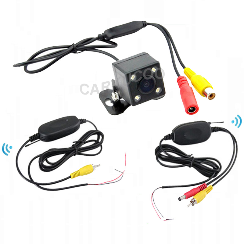 Easy installation Wireless Rear View Camera,2.4 Ghz Wireless Reverse Camera Parking Assist,Night Vision Wirelss Car Camera 4 LED(China (Mainland))