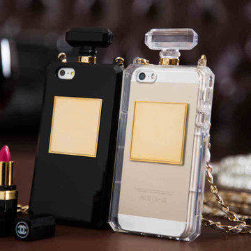 Soft TPU rubber silicon Perfume bottle Case Coque for Apple iPhone 6 6s 6 Plus 5 5s se 4 4s 5c lanyard shell capa carcasa fundas(China (Mainland))