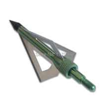 12pcs/lot hunting bow and crossbow use arrow heads tips and archey broadheads  3 blades 100grain six kind of color free shipping
