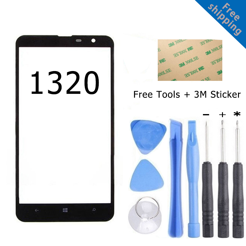 Outer Front Lens Touch Screen Glass Panel For Nokia Lumia 1020 1320 Touch Display Digitizer Original Reapir Parts(China (Mainland))