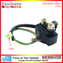 GY6 50cc 150cc Start Solenoid Relay Chinese Scooter Parts ATV Parts Znen Baotian Peace Taotao Icebear Romet, Free Shipping