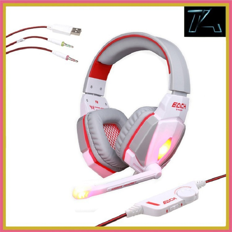 100% New EACH G4000 CS game earphones voice gaming headset with microphone for computer headphone studio with mic for PC game(China (Mainland))