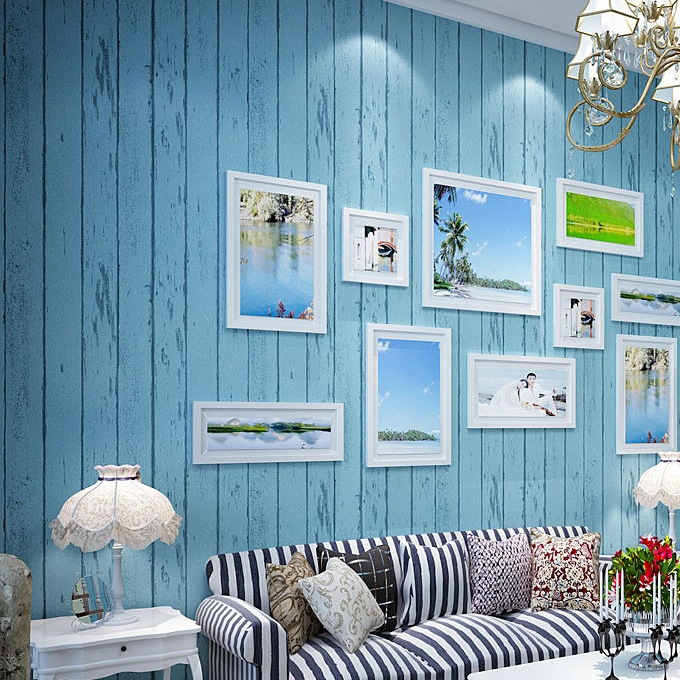 Elegant Charming Blue Living Room Wallpaper Part   5: 27 Splendid Wallpaper  Decorating Ideas For The Part 14