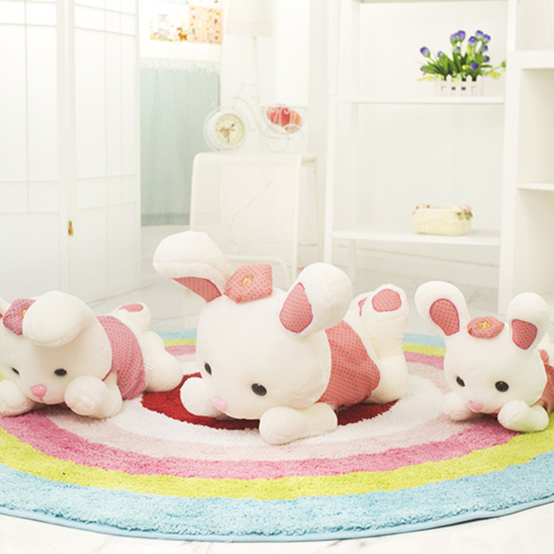 Valentine Super lovely lying pillow wholesale plush rabbit doll soft toys for bouquets(China (Mainland))
