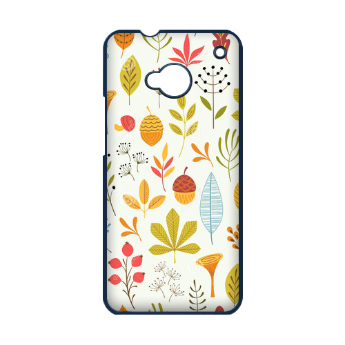 Falling Leaves Leaves Fall With Nuts Case for HTC One M7 Cell Phone Carrying Case(China (Mainland))