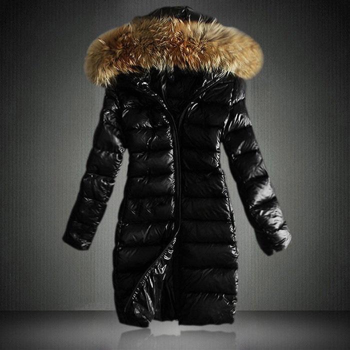 Winter warm jacket 2015 good quality Women slim large fur collar Parkas black lady long coat plus size S-XXXL 3color hot sale