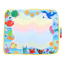 60 * 49cm Water Drawing Painting Toys Mat+1 Pen Water Drawing Board Baby Play Toys Kids Drawing Water Mat Tablet Aqua Doodle(China (Mainland))