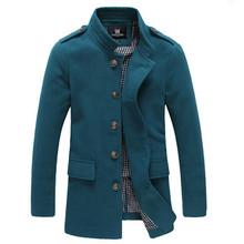 High quality 2016 Men's Winter Dust Coat mens Overcoat winter Male Fashion Skinny Trench Coat Long Trench coats for men