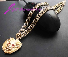 2015 New Fashion 18K Gold Silver Plated Women Gift Chain Chunky Necklaces Pendants Necklace Women Men