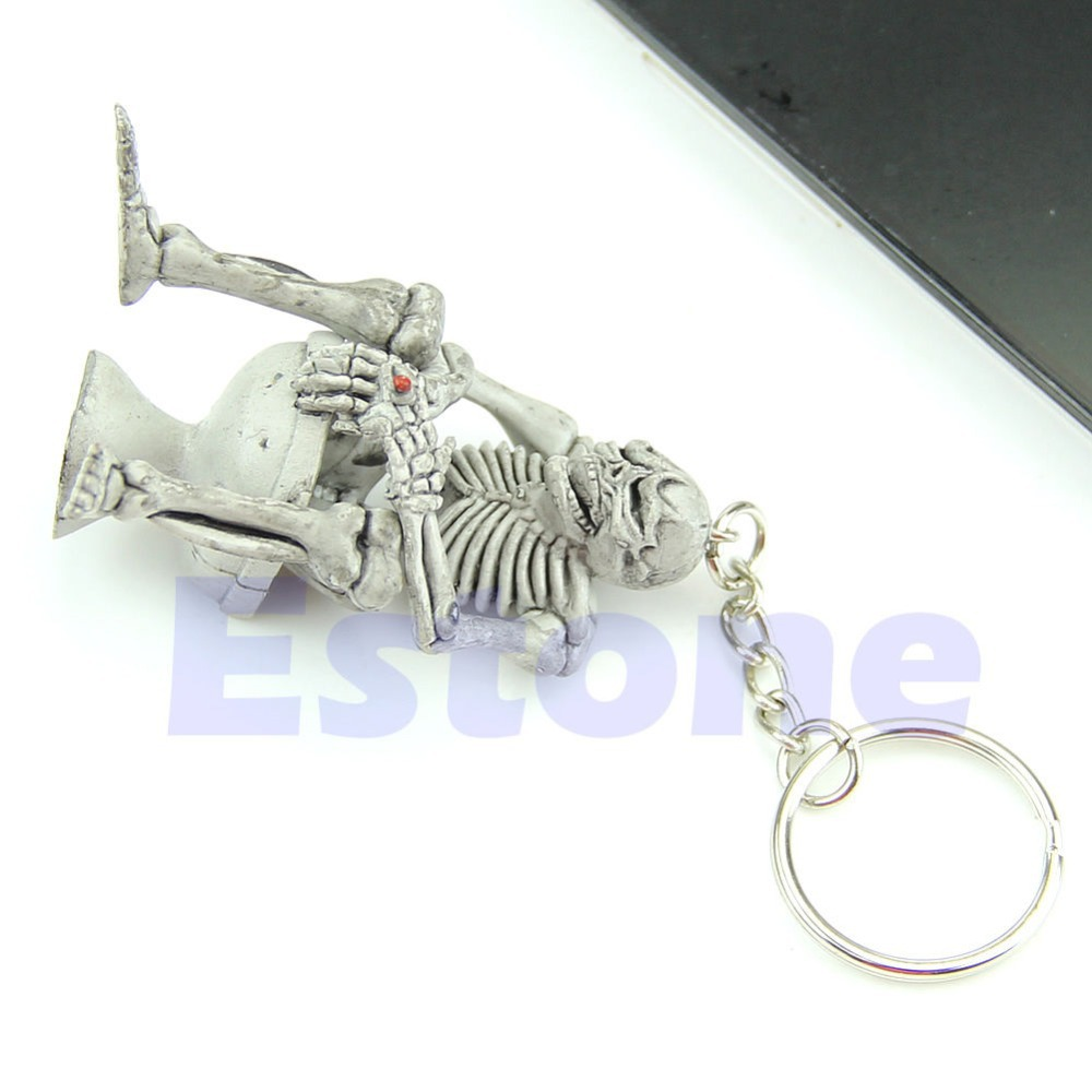 Creative Toilet Purse Bag Rubber KeyChain Keyring Key Chain New Fashion Gift