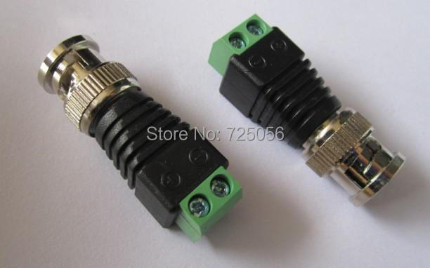 BNC Male Connector for CCTV Coaxial CAT5/CAT6 cable, 20pcs/lot, free shipping(China (Mainland))