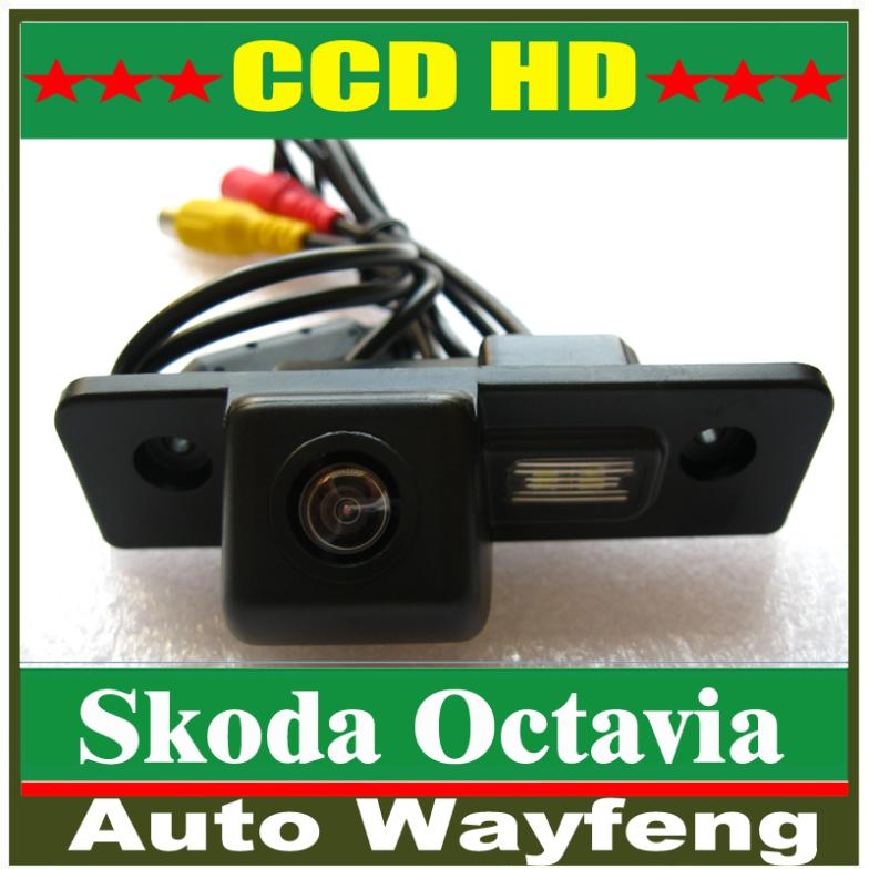 Special Car Rear View Reverse backup Camera for VW Skoda Octavia with water proof,night vision,170degrees HD CCD Rear Camera(China (Mainland))