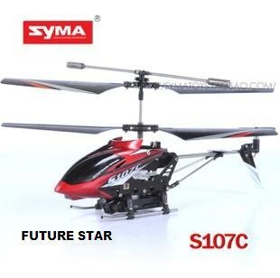 Freeshipping! 2012 New helicopter SYMA  S107C  3CH Mini Gryo RC Helicopter with Camera 130 pixel Radio Control helicopter