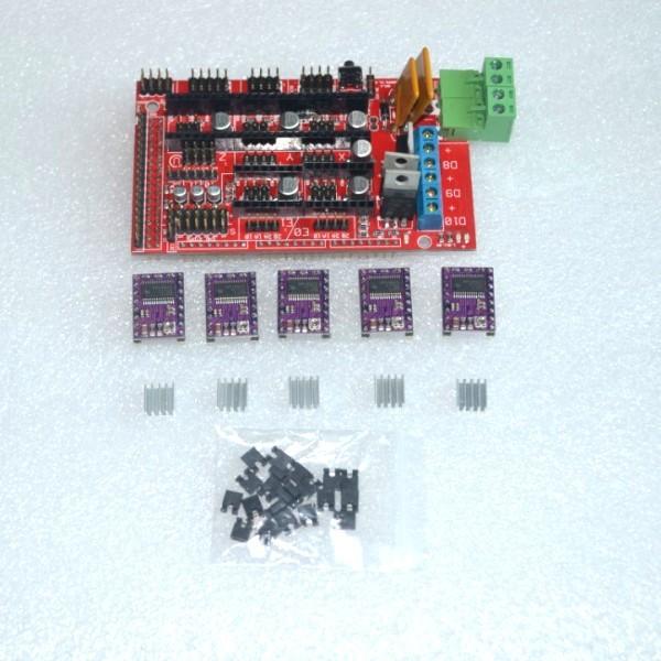 3D Printer RAMPS 1.4 control panel printer Control Reprap MendelPrusa + 5pcs DRV8825 Stepper Motor Drive Carrier Reprap(China (Mainland))