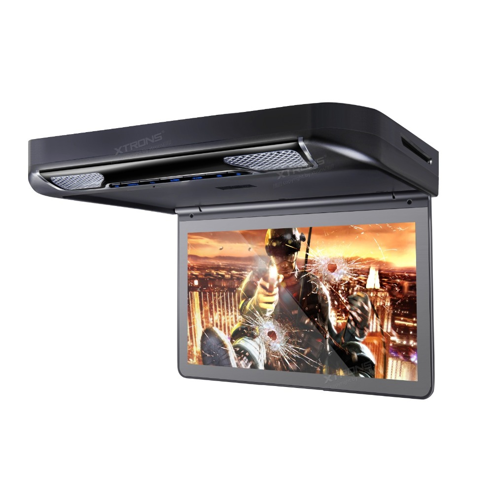 """13.3"""" Black Color Flip Down Car DVD Car Roof DVD Roof Mount Car DVD with Built-in HDMI Input & 1920*1080 HD Resolution(China (Mainland))"""