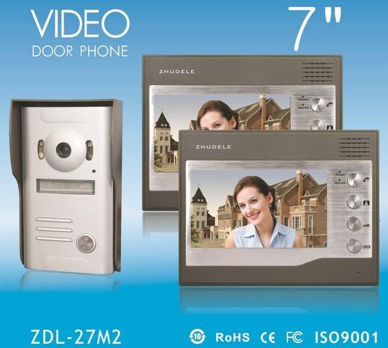 "Promotion International Quality! 2014 New 7"" video door phone , IR CCD Camera , waterproof 1V2(China (Mainland))"