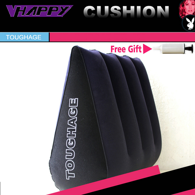 High quality Toughage Inflatable Sex Pillow Positions Adult Sex Sofa Bed Cushion Triangle Wedge Pad Sofa Toys Sex Hold Pillow(China (Mainland))