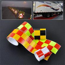 "5x300cm/2""x118"" Chequer Reflective Safety Warning Conspicuity Tape Marking Film Sticker for Industry Transport Contruction Range(China (Mainland))"