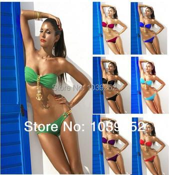 Сексуальные купальники бикини 2013 новый марка купальник стиль женщины лето подарков красный зеленый