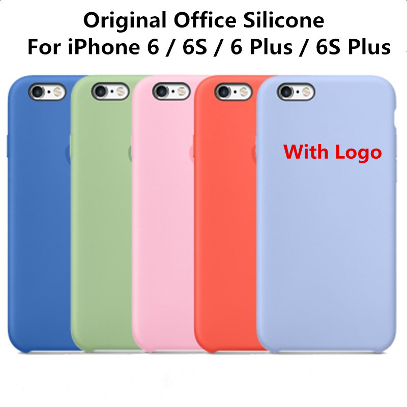 Original Office Silicone Case For Apple iPhone 6S 4.7″ 6S Plus 5.5″High quality Ultra Thin Phone Case Cover Luxury Brand Case