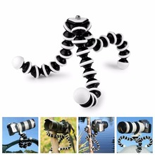 Large Octopus Flexible Tripod Stand Gorillapod 1/4 and 3/8 Screw for Camera Digital DV Canon Nikon(China (Mainland))