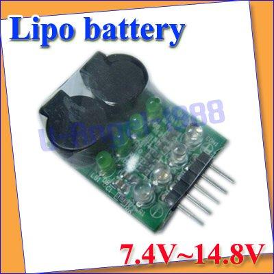 5pcs/lot Lipo Battery Low Voltage Buzzer Alarm 7.4V 11.1V 14.8V green+Free shipping(China (Mainland))