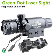Chasse tactique Green Dot Laser Sight portée lampe de poche 20 mm Rail Picatinny mont fusil HT3-0001(China (Mainland))