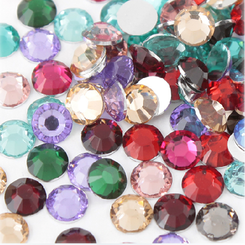 Fashion 4mm super shiny Mixed colors Resin Flat back Nail Art rhinesones accessories Diy Components10000pcs/bag,Free shipping!(China (Mainland))