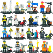 Wholesale Classic SWAT Army Police City Officer Firefighting Minifigures KY87016 Building Blocks Sets Model Bricks Figure Toys