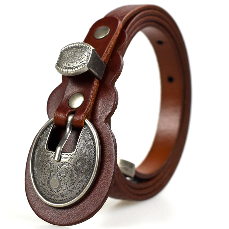 Belts For Women Genuine Leather Vintage Fashion Womens Dress Belts Designer Brand Ladies Belt(China (Mainland))
