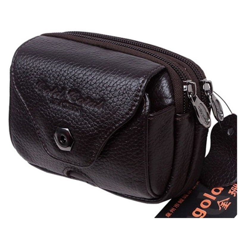 Wear belt male sports small mobile phone waist pack bag genuine leather fashion outside sport bags motorcycle with logo(China (Mainland))