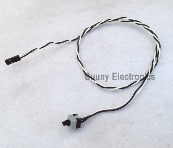 10pcs Power cable and button switch for pc replacement on off switch reset computer Free shipping(China (Mainland))