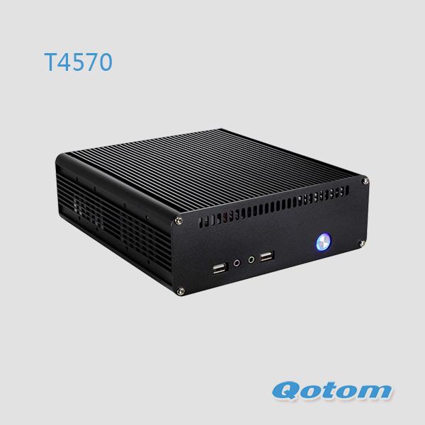 free shipping mini pc i5,linux ubuntu mini pc windows xp QOTOM-T4570,Intel Core i5-4570 Processor,Intel H81 Chipset,HDMI+VGA+DVI<br>