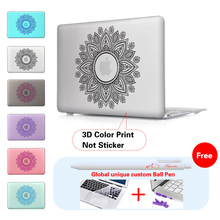 Paisley Garland Matte Clear hard shell laptop bag case For Mac book 13 Matte Case For Apple macbook Air Pro Retina 11 12 13 15